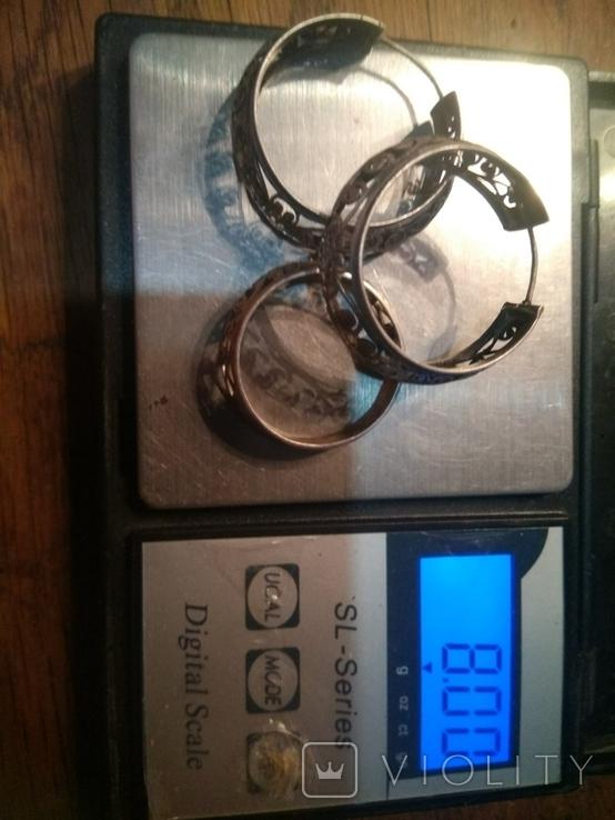 Кольцо, серьги., фото №10