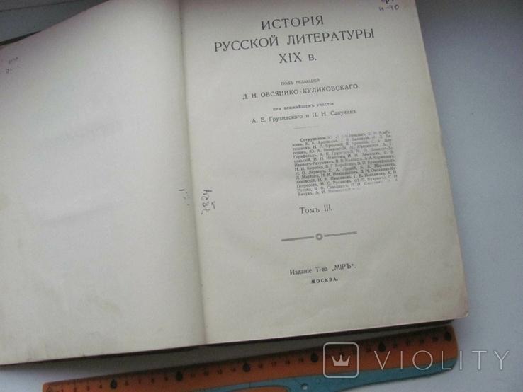История русской литературы XIX века. Том 3.1910 г, фото №8