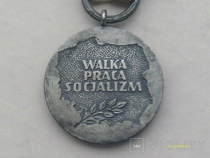 Медаль 40 лет PRL 1944-1984. Walka Praca Socjalizm, фото №5
