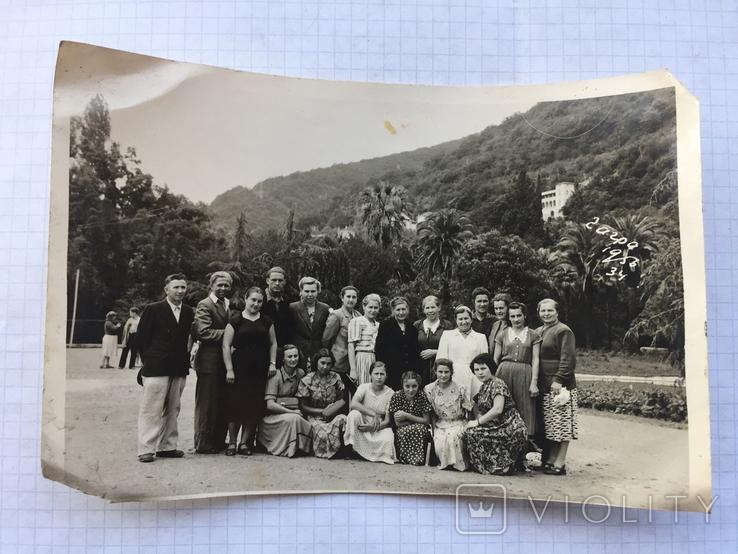 Фото. Группа отдыхающих. Гагра. 1956 год., фото №2