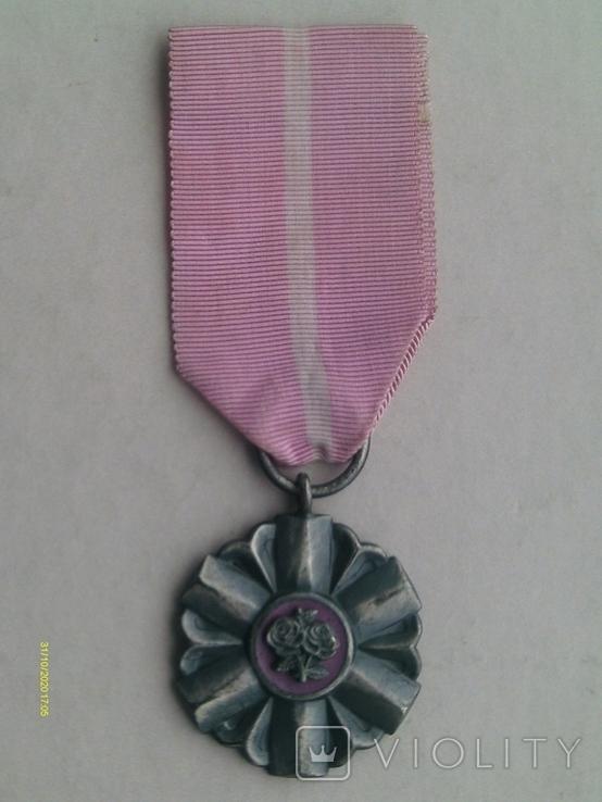 Медаль PRL За долголетнюю супружескую жизнь. Польша., фото №2