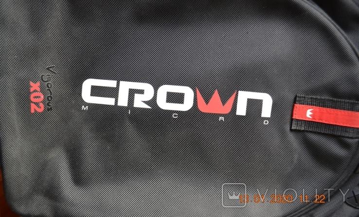 Рюкзак (для ноутбука) Crown 15.6 Vigorous x02 black. Состояние нового, фото №8