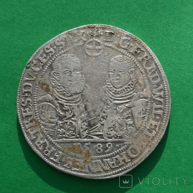 Талер 1589 года. Саксония - Альтенбург, Два брата