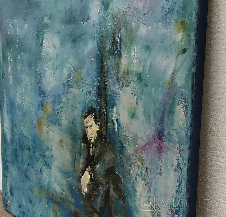 Картина масло холст 55х55 И Безроднов Spy, фото №3