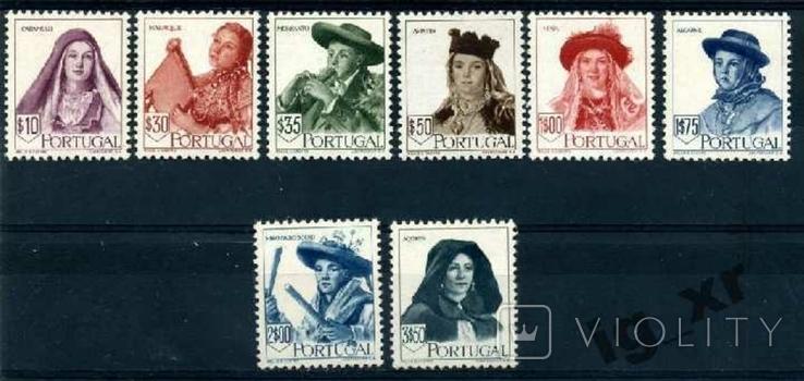 Португалия. Костюмы (серия)** 1947 г., фото №2