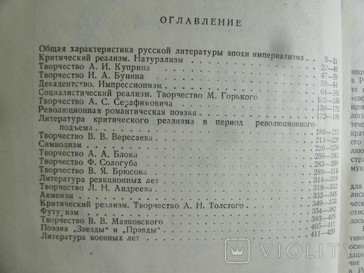 Русская литература ХХ века с девяностых годов XIX до 1917г. М.1939, фото №4