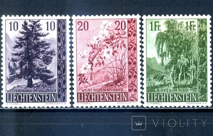 Лихтенштейн. Природа (серия)** 1957 г.