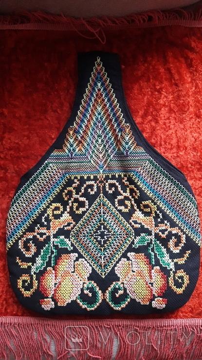 Сумка с вышивкой. Торба, фото №2