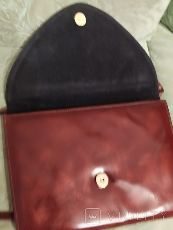 Винтажная женская английская кожаная сумка Clarks, фото №5