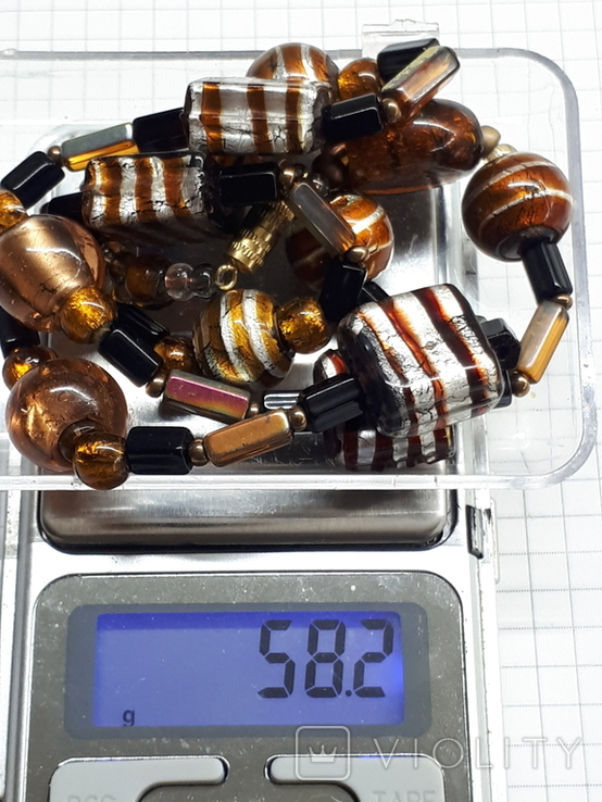 Бусы Стекло 58.2 гр, фото №8
