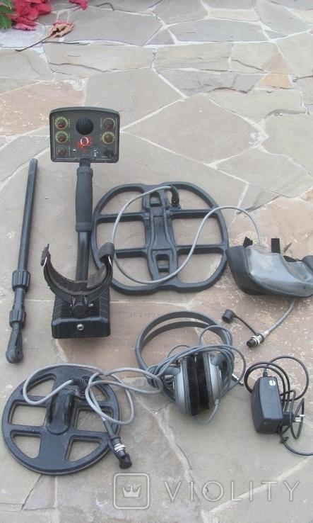 Металлоискатель Маска, 2 катушки, уши, фото №2