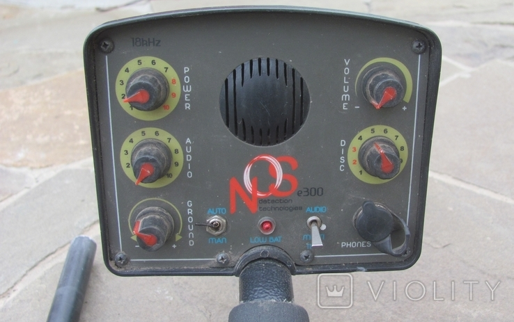Металлоискатель Маска, 2 катушки, уши, фото №4