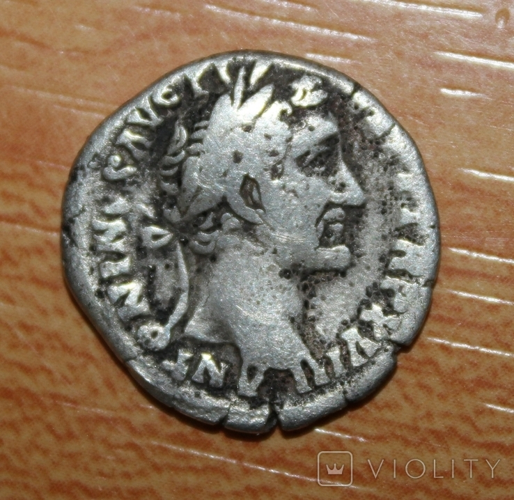 Денарий Antoninus Pius (RIC III 240), фото №2