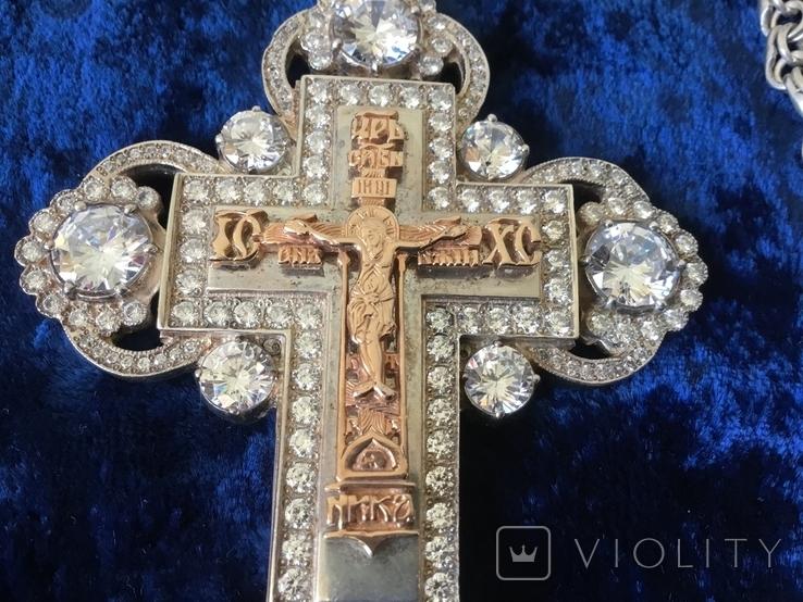 Крест распятие серебро золото, фото №9
