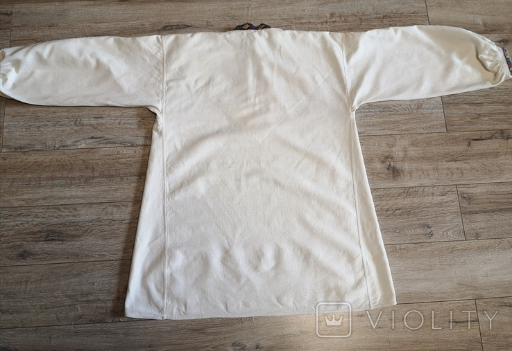 Чоловіча сорочка домоткане полотно Верховина, фото №7