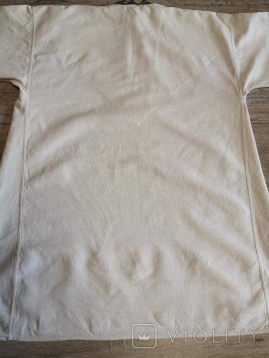 Чоловіча сорочка домоткане полотно Верховина, фото №8