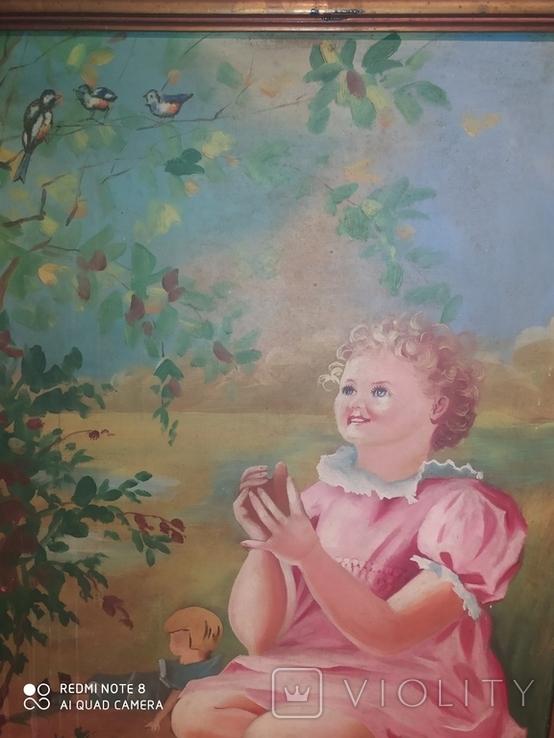 Девочка с птичками. Копия., фото №5