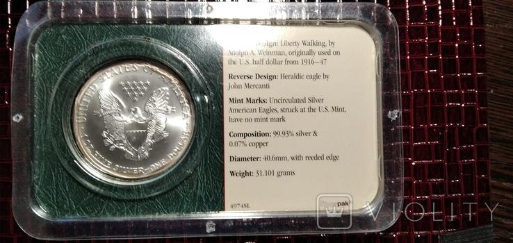 Доллар Шагающая Свобода 2002 года, фото №3