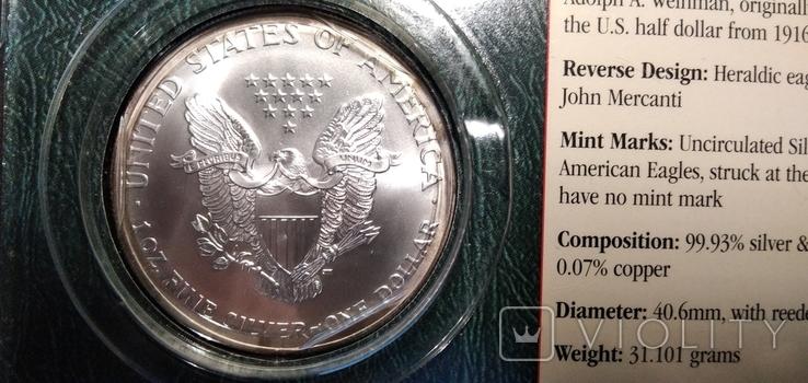 Доллар Шагающая Свобода 2002 года, фото №4
