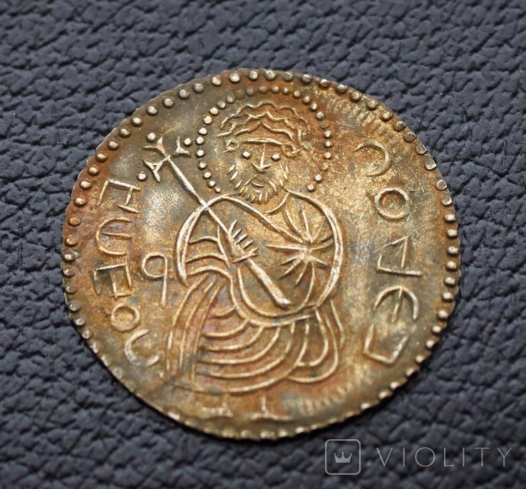 Святополк крестильний сребреник 1015-1019гг копия, фото №2