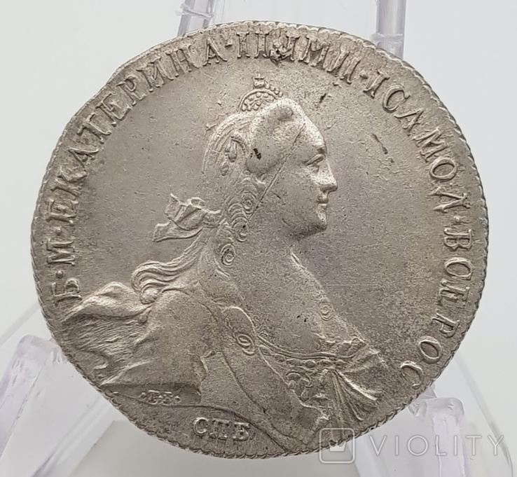 Рубль 1772 года ТI СПБ ЯЧ.