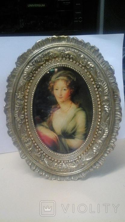 """Портрет """"Вел. Княжна Елизавета Алексеевна"""" Элизабет Виже-Лебрен (1755-1848), фото №4"""