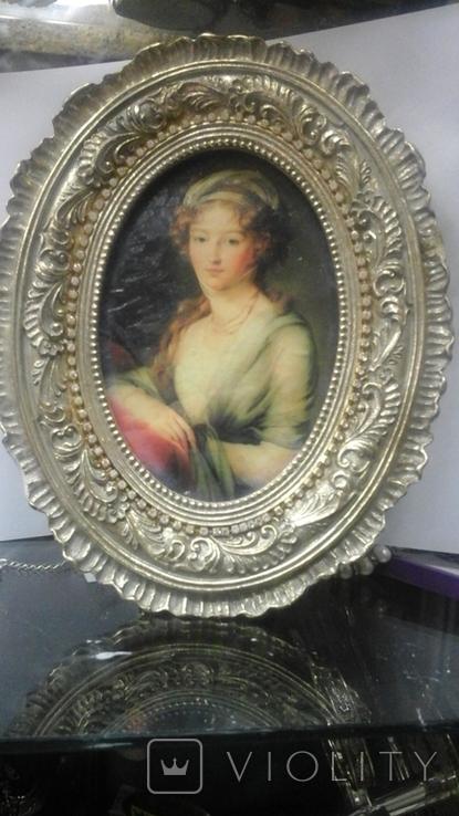 """Портрет """"Вел. Княжна Елизавета Алексеевна"""" Элизабет Виже-Лебрен (1755-1848), фото №6"""