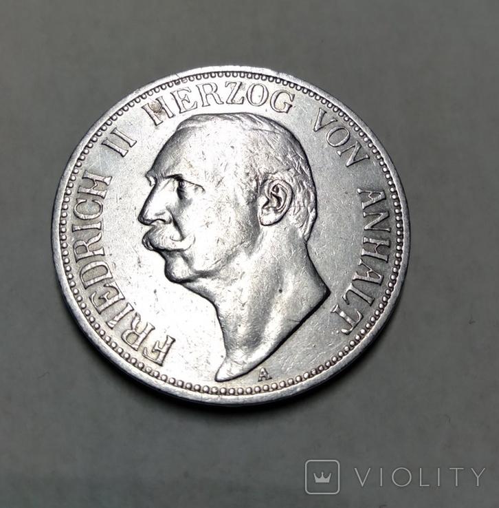 3 марки 1909 Анхальт лот 6