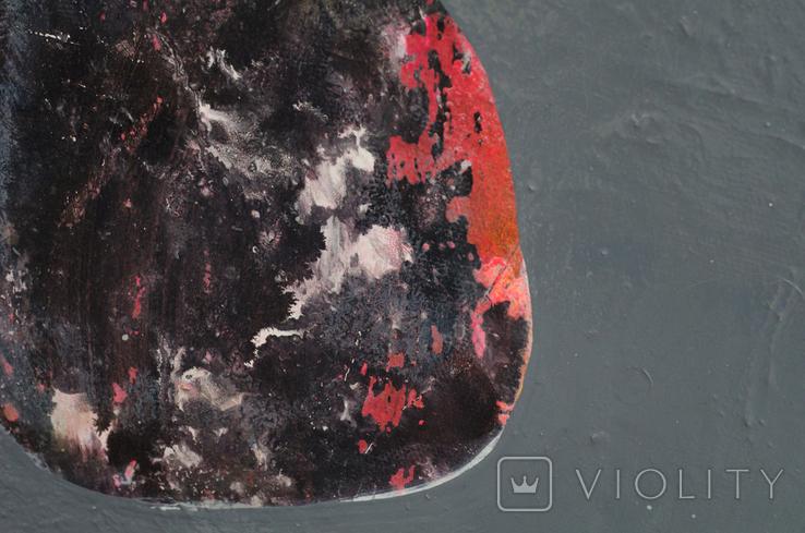 Абстракция, холст, масло, 30х25см, фото №4