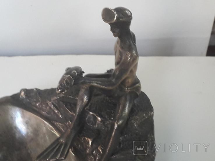 Пепельница  Аквалангист  (бронза), фото №4