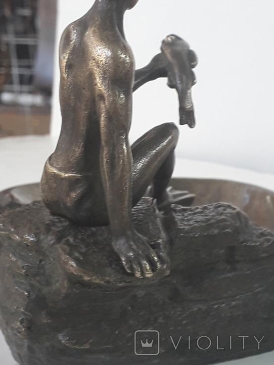 Пепельница  Аквалангист  (бронза), фото №7