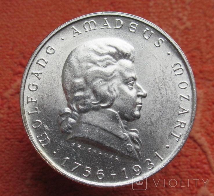 2 шиллинга 1931 г. Моцарт, Австрия, серебро, фото №4