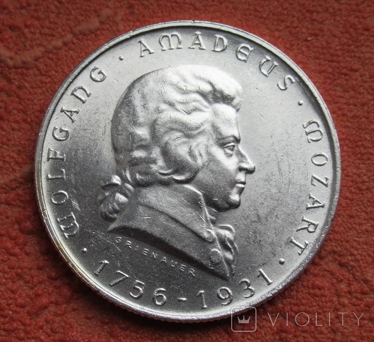 2 шиллинга 1931 г. Моцарт, Австрия, серебро, фото №5