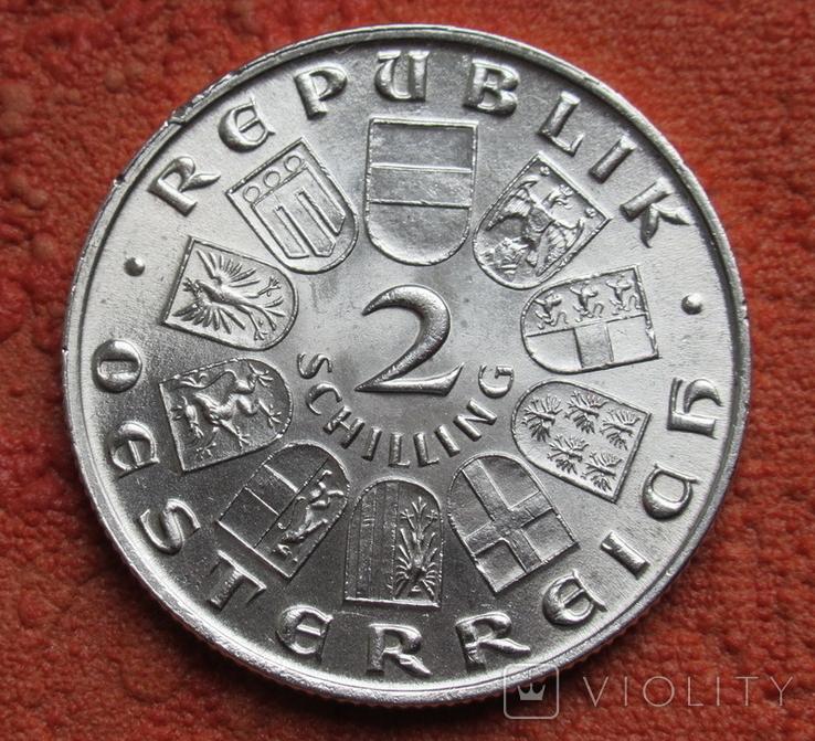 2 шиллинга 1931 г. Моцарт, Австрия, серебро, фото №7