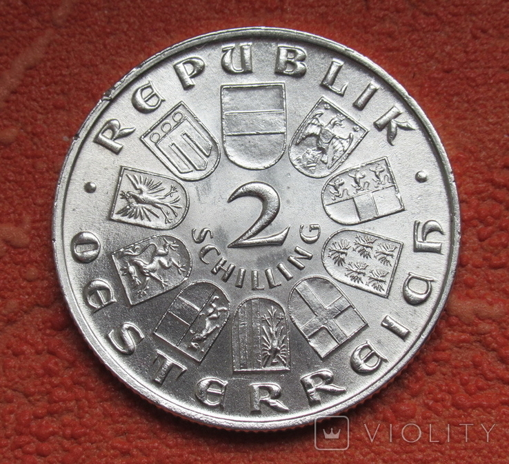2 шиллинга 1931 г. Моцарт, Австрия, серебро, фото №8