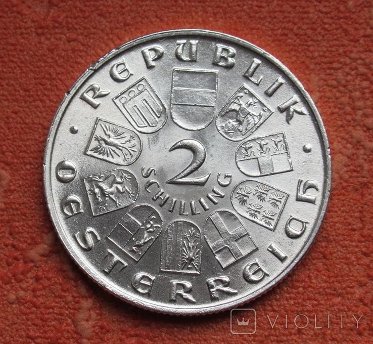 2 шиллинга 1931 г. Моцарт, Австрия, серебро, фото №9