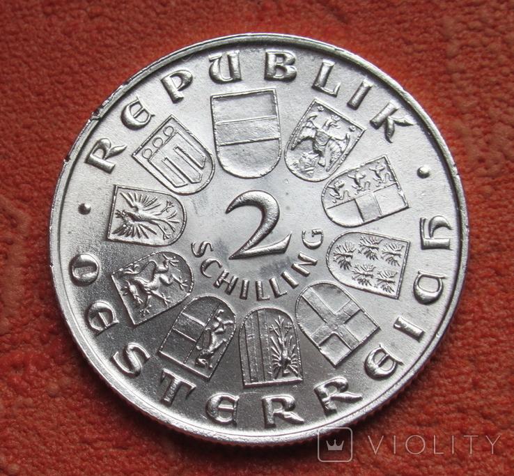 2 шиллинга 1931 г. Моцарт, Австрия, серебро, фото №10