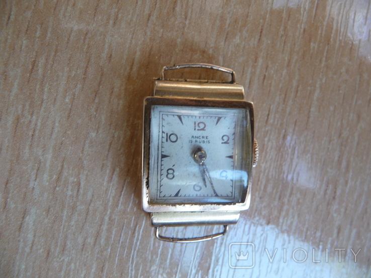 Часы женские золотые ANCRE-Швейцария 750 проба, фото №8