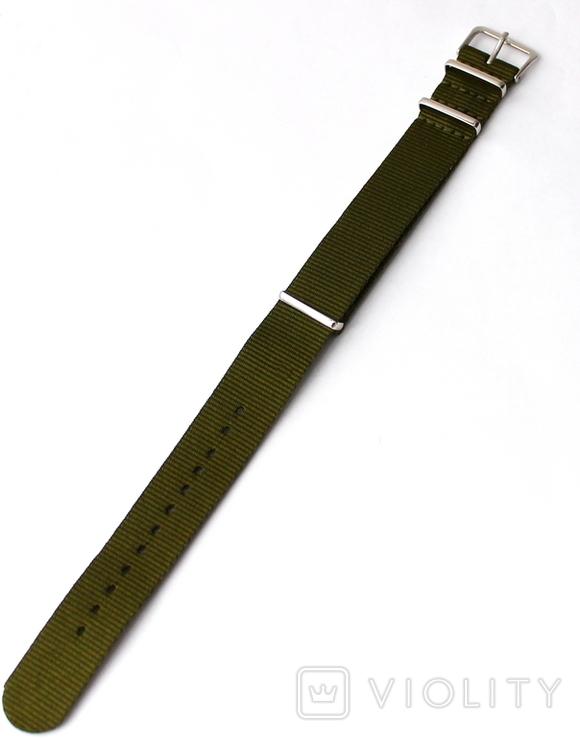 Ремешок Браслет НАТО NATO Новый в упаковке Размер на выбор 18, 20, 22 Зеленый, фото №4