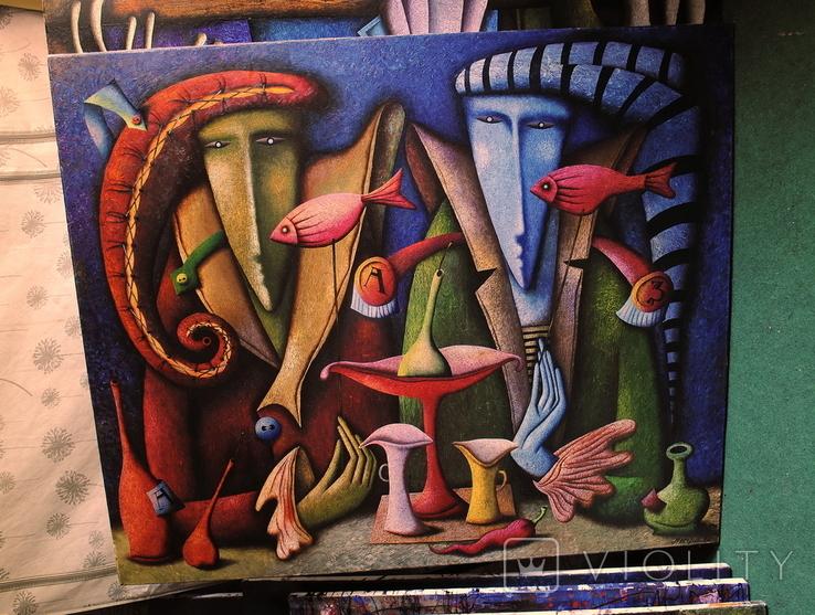 Художник A.Losovoj, картина ''Тайная вечеря. Эпизод 2'', 120х100 см., холст, масло, фото №3