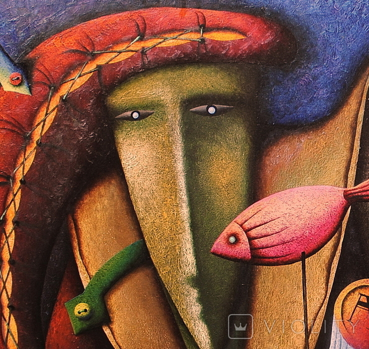 Художник A.Losovoj, картина ''Тайная вечеря. Эпизод 2'', 120х100 см., холст, масло, фото №4