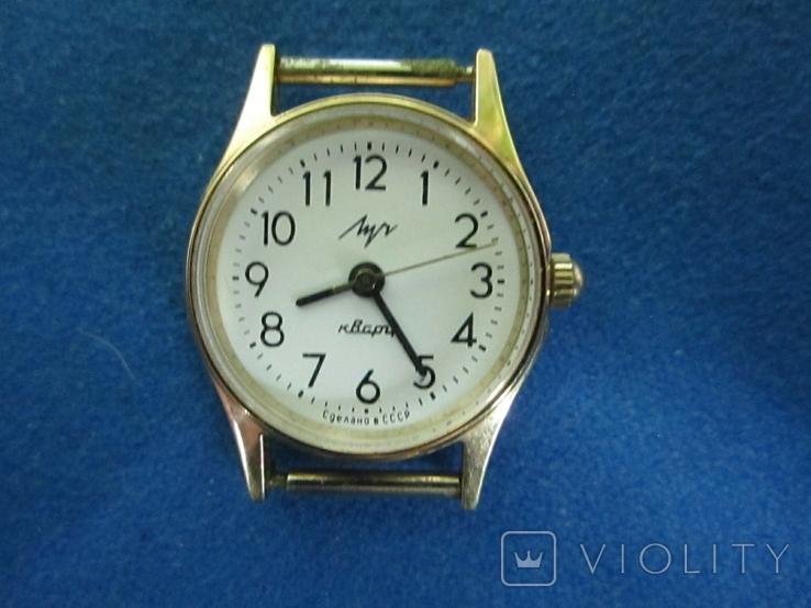 Часы Луч женские в позолоте., фото №2