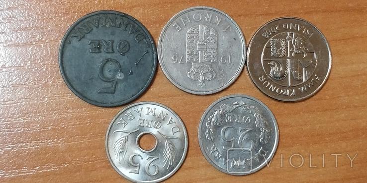 Лот монет Скандинавии, фото №3
