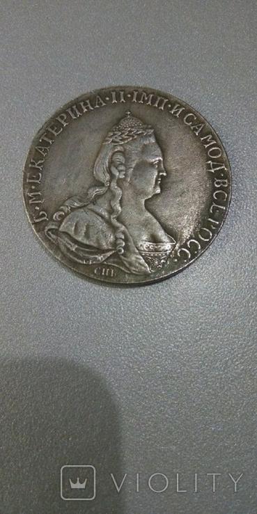 Рубль 1783 года СПБ-ММ, копия, фото №2
