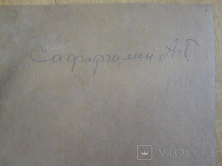 "А. Сафаргалин  "" Портрет девушки. "" 42х35 см., фото №4"