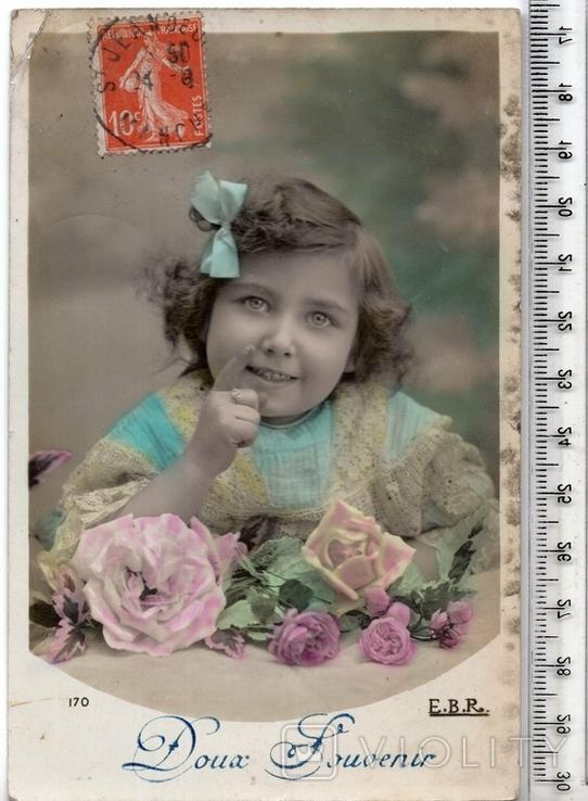 Старинная открытка. 1911 год. Дети.(3), фото №2