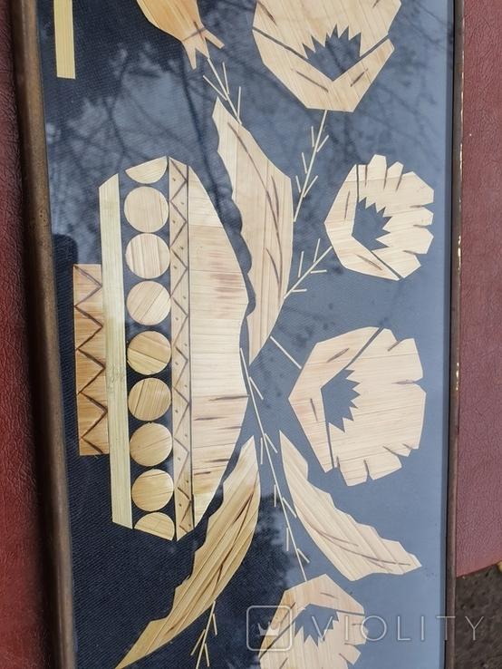 Картина из соломы 43.3×15.3, фото №4