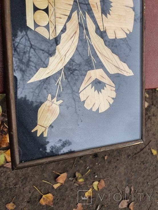 Картина из соломы 43.3×15.3, фото №5