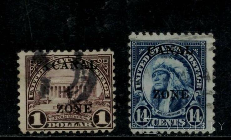 Панамський канал 1924 КЦ 80євро №68А и №62А