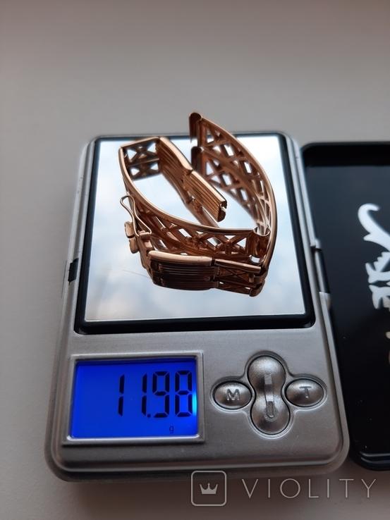 Золотой браслет для часов, фото №2